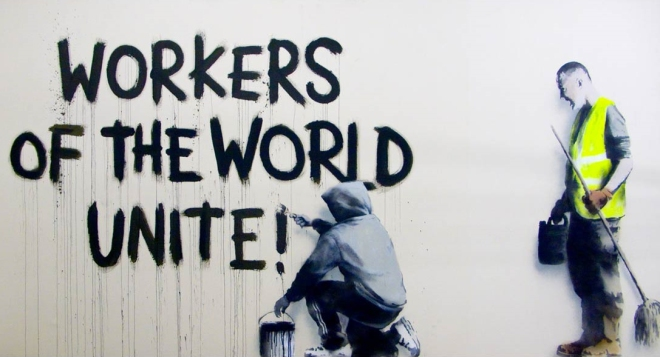 banksy workers of the world