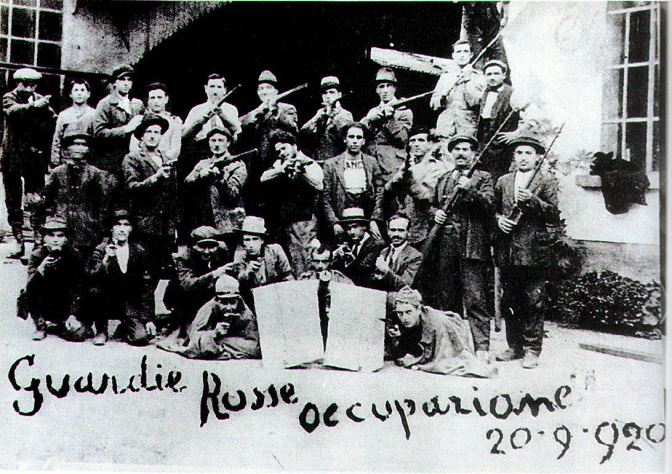 "Italian ""Red Guards,"" dated 20 September 1920."