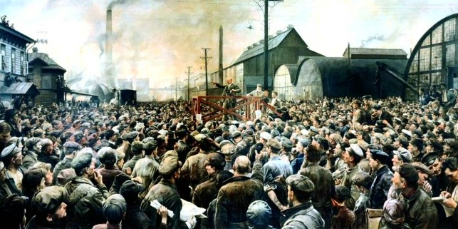 Isaak Brodsky - Speech by Lenin at a Rally of Workers