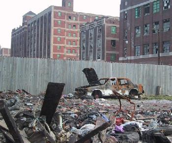 The urban wasteland that is present-day Detroit.