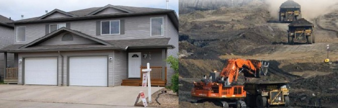 Fort McMurray's worker elites gets to buy homes like this with the money they earn in one of the world's most destructive industries. Just as all sections of the worker elite serve as a social base for bourgeois rule, Alberta's worker elite serves as a critical social base for Canada's extractive industries -- uniquely, without social democracy as a mediating force.
